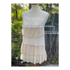 Cottagecore Vintage Tiered Camisole Top Lace Nylon